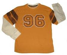 Boys Ruff Hewn Double Sleeve Cotton Varsity Football Shirt M 10-12
