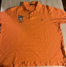 Polo Ralph Lauren Men 3Xb Collared Shirt Orange Yacht Club Flags Big Tall