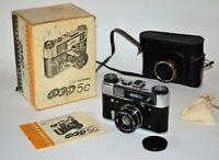 "NEAR EXC! RUSSIAN USSR ""FED 5s (FED-5C)"" rangefinder camera, FULL SET (3)"