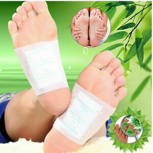 100PCS Detox Foot Pads Patch Detoxify Toxins Slim Keeping Fit with Adhesive&BOX