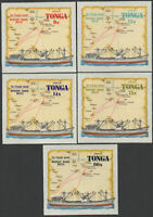 Tonga 1972 SG398-402 Merchant Marine Routes Airmail set MNH