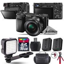 Sony Alpha a6000 Mirrorless Digital Camera + 16-50mm OSS Zoom Lens - 16GB Kit