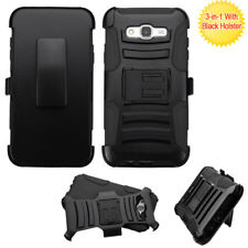 Samsung J7 Belt Clip Holster Combo Swivel Cell Phone Case With Kick Stand Cover