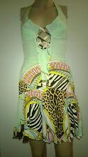 Roberto Cavalli Authentique et très jolie robe courtes à bretelles motif léopard