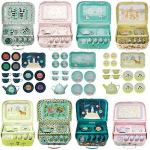 Sass & Belle Childs Girls Boys Play Toy Pretend Tea Set & Carry Case