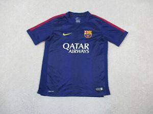 Nike Barcelona Soccer Jersey Youth Large Blue Yellow Spain Futbol Boy Kids B24 *