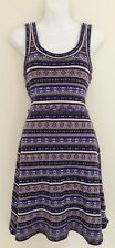 FREE PEOPLE $128 Wool Blend Tank Sweater Dress Sz L Soft Knit Fair Isle Multi