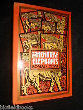 SIGNED & Inscribed - The Memory of Elephants - Boman Desai - 1988-1st - Hardback