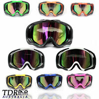 tinted motocross motorcycle goggles anti-fog UV protection ATV MX dirt quad bike