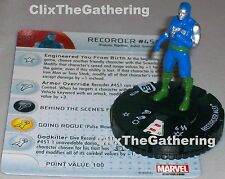 RECORDER 451 #013B Guardians of the Galaxy Marvel HeroClix
