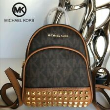 Michael Kors MK Bag Abbey Backpack back pack studded brown