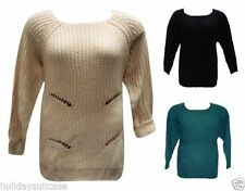 Chunky, Cable Knit Acrylic Machine Washable Plus Size Jumpers & Cardigans for Women
