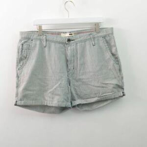 "Levis Railroad Stripe Shorts 4"" Cotton Womens W32 32 14"