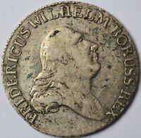 4 Groschen 1/6 Taler Silber Brandenburg Preussen Friedrich Wilhelm II. 1796 E