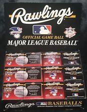 vintage RAWLINGS AMERICAN LEAGUE 1990s AL baseball (12) box display w dozen case