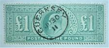 1902 Edward VII pound dull blue green used very nice example SG266
