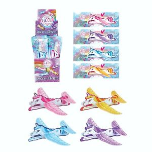 Pack of 12 Unicorn Flying Gliders Children Party Bag Fillers Prizes