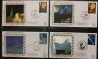 GB 1991 Scientific Achievements Benham Limited Edition Silk Cover FDC SHS