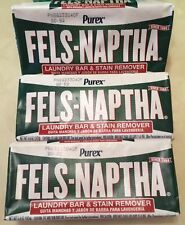 3pk Fels Naptha Make Laundry Soap Poison Ivy Treatment Stain Remover 5oz bar