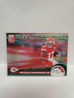 Mecole Hardman Jr. 2020 Elite Full Throttle Kansas City Chiefs Green Parallel...