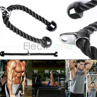 Tricep Rope Multi Gym Cable Attachment Press Push Pull Down Arm Exercise