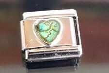 Shell Heart Italian Charm Bracelet Link Charms