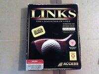 PC LINKS THE CHALLENGE OF GOLF Access Inc 1991 3+ (MS DOS - Floppy Disc RARE
