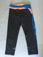 Ivivva Hyper Track Crops Pop Orange Coal Pool Blue Size 14 Lululemon Sz 4