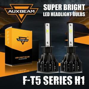 AUXBEAM H1 LED Headlight 60W 6000LM High or Low Beam Bulb Conversion 6500K Kit