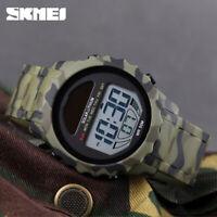 SKMEI Solar Supply Digital Watch Waterproof Sport Mens Army Wristwatches 1585 B