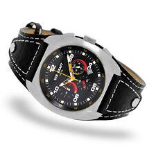 Uhr-Kraft 17323/2 Surf & Turf Herrenuhr Sportuhr Chronograph Lederpad 10 ATM