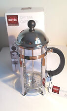 Optima 8 Cup Cafetiere by La Cafetiere in CP and Glass with S Steel plunger
