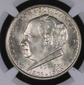 1936 US COMMEMORATIVE SILVER HALF DOLLAR COIN BRIDGEPORT NGC MS65