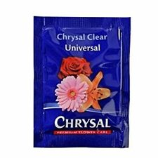 Chrysal Flower Food 10 gram - 100 Packets Fresh Cut Flowers Each Makes 1 Quart