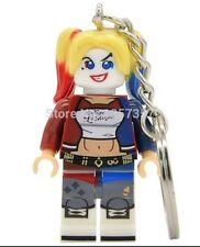 Suicide Squad Harley Quinn Keyring Keychain Minifigure Superhero DC Fits Lego