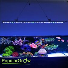 PopularGrow 81W Blue White LED Aquarium Bar Light Strip IP65 Fishtank Reef Coral