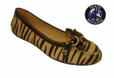 """Women's Peace Mocs """"Mary"""" Zebra Suede Loafer Moccasins 7M New In Box PM1109"""