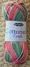 DK Knitting Wool 100g Cottonsoft Crush Double Knitting 100%25 CottonYarn KingCole