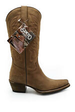 Sancho Womens Ladies Leather Goodyear Welted Mid Calf Cowboy Boots 7
