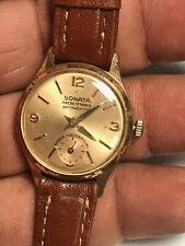Rare Vintage Men's Sonata Ancre 17 Rubis Analog Watch