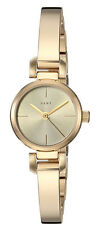 DKNY Ellington Sunray Dial Yellow Gold Toned Steel Bangle Women Watch NY2628 New