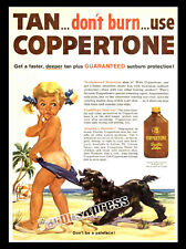 VINTAGE COPPERTONE GIRL AD MAGNET ~ Thin Flexible 4x3 in.