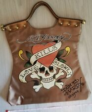 Ed Hardy Tote Bag Love Kills Slowly Skull Oversized Beach Bag Jolly Rodger