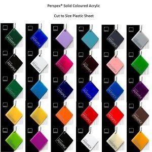 Plastic Acrylic Perspex® Rigid Cast Sheet 32 Colours A5 A4 A3 3mm & 5mm