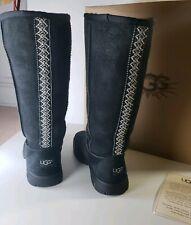 Ugg Australia Ultimate Tall 5340 Braid Black Women Size 7 Shoes Boots Box