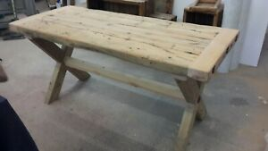 Rustic Reclaimed Pine Dining Kitchen Table