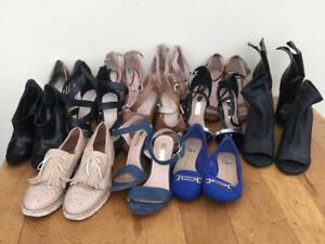 SHOES/ANKLE BOOTS  BUNDLE x 13 pairs   Woman/Teen    Size UK 4   EUR 37