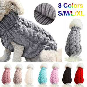 Winter Knitted Puppy Dog Jumper Sweater Pet Clothes For Small Dogs Cat Coat