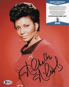 Nichelle Nichols Uhura Star Trek Original Autographed 8X10 photo w/Beckett COA 9