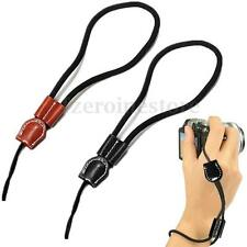 Camera Wrist Hand Leather Strap Black or Brown for Sony NEX5R NEX7 NEX-5N NEX-3